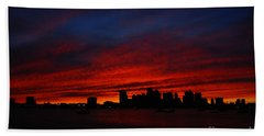 Boston Twilight Beach Towel