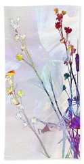 Botanical Rainbow Beach Sheet by Shawna Rowe