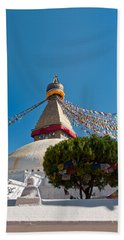 Boudhanath Stupa In The Kathmandu Valley In Nepal  Beach Towel