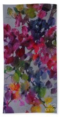 Beach Towel featuring the painting Bougainvillea by Michelle Abrams