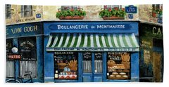 Boulangerie De Montmartre Beach Towel