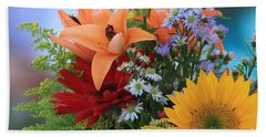 Beach Sheet featuring the photograph Bouquet Of Flowers by Geraldine DeBoer