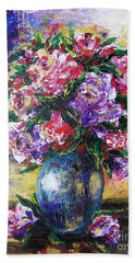 Beach Sheet featuring the painting Bouquet Of Scents by Vesna Martinjak