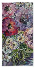 Beach Towel featuring the painting Bouquet Of Sweetness by Eloise Schneider