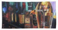 Bourbon Bar Oil Painting Beach Towel