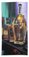 Bourbon Bar Oil Painting Beach Towel