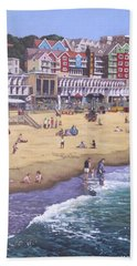 Bournemouth Boscombe Beach Sea Front Beach Towel by Martin Davey