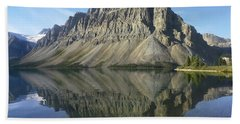 Bow Lake And Crowfoot Mts Banff Beach Towel