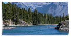 Bow River  Beach Towel by Cheryl Miller