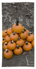 Beach Towel featuring the photograph Bowling For Pumpkins by David Millenheft