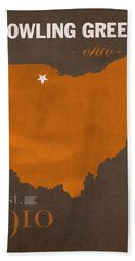 Bowling Green State University Falcons Ohio College Town State Map Poster Series No 021 Beach Towel
