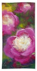 Bowls Of Beauty - Alaskan Peonies Beach Sheet