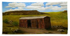 Boxcar On The Plains Beach Sheet by Sheri Keith