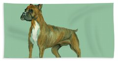 Boxer Beach Towel by Terry Frederick