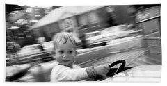 Boy On Ride At World's Fair Beach Towel