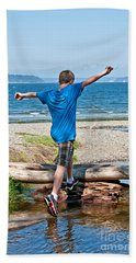 Boyhood Fun Art Prints Beach Towel