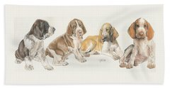 Bracco Italiano Puppies Beach Towel