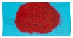 Brain Red Beach Towel