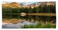 Brainard Lake Reflections Beach Towel by Ronda Kimbrow