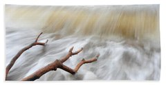Branches In Water Beach Towel by Randi Grace Nilsberg