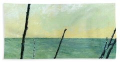 Branches On The Beach - Oil Beach Towel