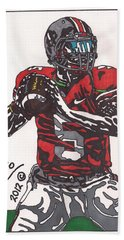 Braxton Miller 1 Beach Sheet by Jeremiah Colley