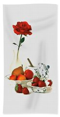 Breakfast For Lovers Beach Towel