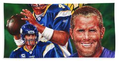 Bret Favre Beach Towel