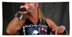 Bret Michaels In Philly Beach Towel by Alice Gipson