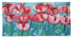 Brezzy Poppies Beach Towel