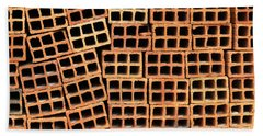 Brick Abstract Beach Towel by Vivian Christopher