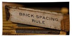 Brick Mason's Rule Beach Towel
