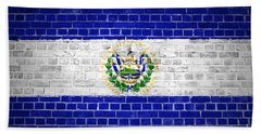 Brick Wall El Salvador Beach Towel by Antony McAulay