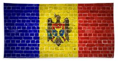 Brick Wall Moldova Beach Towel by Antony McAulay