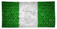 Brick Wall Nigeria Beach Towel