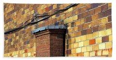 Bricks And Wires Beach Sheet by Ethna Gillespie