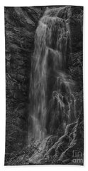 Bridal Veil Falls At Spearfish Canyon South Dakota Beach Sheet