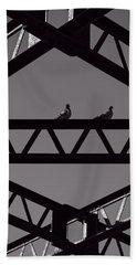 Bridge Abstract Beach Towel by Bob Orsillo
