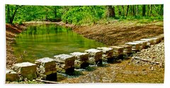 Bridge Across Colbert Creek At Mile 330 Of Natchez Trace Parkway-alabama Beach Sheet