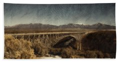 Bridge Across The Rio Grande River-arizona Beach Towel