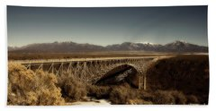 Bridge Across The Rio Grande River-arizona V2 Beach Towel