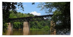 Bridge Crossing The Potomac River Beach Sheet
