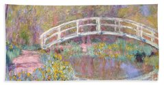 Bridge In Monet's Garden Beach Towel by Claude Monet