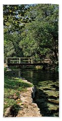 Bridge Of Serenity Beach Towel by Judy Vincent