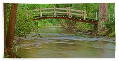 Bridge Over Valley Creek Beach Sheet by Michael Porchik