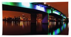 Bridge To Long Beach Beach Towel