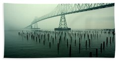 Bridge To Nowhere Beach Towel by Todd Klassy