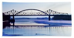 Bridges Over The Mississippi Beach Towel