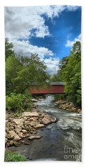 Bridging Slippery Rock Creek Beach Towel