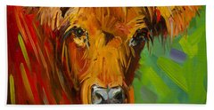 Bright And Beautiful Cow Beach Towel
